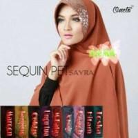 Khimar Sequin Pet Velvet / Bergo Sequin /Khimar Squin / Faiqa Sequeen