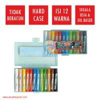 Krayon Crayon TiTi 12 Warna Hardcase Aman Berkualitas Anti Air Murah