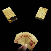 Kartu Remi Emas - Gold Golden Poker Playing Card Set Termurah