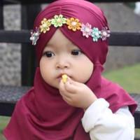 kerudung jilbab anak bayi kerut melati