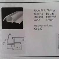 rel 380 sliding pintu lemari geser pasangan roda 380