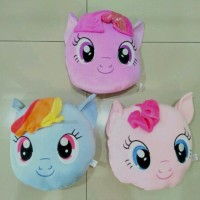 Boneka Bantal Kepala My Little Pony Ponny Kuda Poni