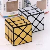 Rubik Fisher Mirror Moyu MofangJiaoshi Gold Black Base