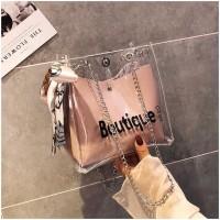 Tas Selempang Wanita / Tote Jelly Bag Transparant Import | JC-TB 001