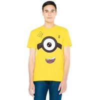 Fantasia T-Shirt Pria Minion Kevin - Kuning