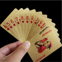Kartu Remi Emas - Gold Golden Poker Playing Card Set