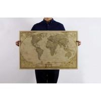 Poster Peta Dunia Large Vintage World Map 28x18 inch - N401