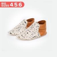 Baby Loafers BIG - Caramel White Splash (Sepatu Bayi PYOPP)