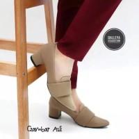sepatu wanita pantopel kerja high heels hak tinggi tahu casual WAODE A