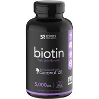 Sport Research Biotin Infused With Organic Virgin Coconut Oil - 5000mc