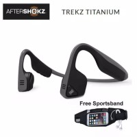 Wireless Headset Bluetooth TREKZ titanium AFTERSHOKZ Bone Conduction -