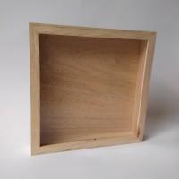 Bingkai kayu - bingkai foto 3D size 25x25 - varnish