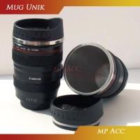 Gelas Mug Cangkir Tumbler Bentuk Lensa Kamera 400ml Canon 24-105mm