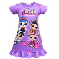 Dress Lol surprise anak ungu size 3-7th
