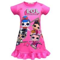 Dress Lol surprise anak pink fanta size 3-7th