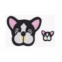 Bordir Tempel Cute Dog Iron Patch Emblem No Custom Badge Stiker Bordir