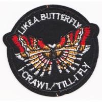 Iron Patch Butterfly 8x7cm Emblem Bordir Tempel Patches Badge Tambelan