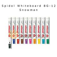 Spidol Whiteboard Snowman Board Marker BG-12 - Hitam