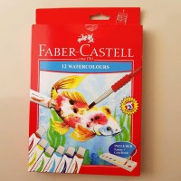 Faber Castell Watercolor WatercoloursWatercolour Cat Air Tube 12warna