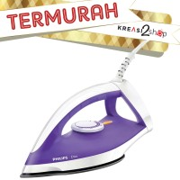Philips Dry Iron / Setrika Kering GC122/37 GC 122/37 Purple Ungu