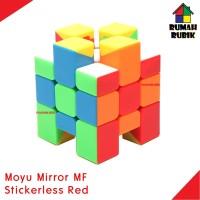 Rubik Mirror Moyu MF Asymmetric Stickerless Red