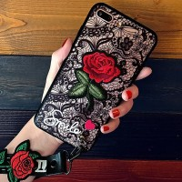 Beauty Rose Medium Soft Hard Case Casing Bunga iPhone XR XS MAX