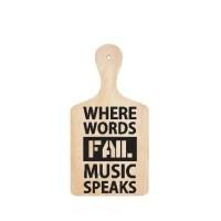 Stiker Talenan Quote Where Words Fail Like Home Sticker Dekorasi Cafe