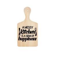 Stiker Talenan Quote A Messy Kitchen Sticker Dekorasi Dinding Dapur