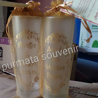 souvenir gelas slim doff/souvenir pernikahan/souvenir Jakarta