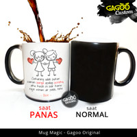 Kado Custom | Mug Magic Bunglon Kado Unik - Our Love