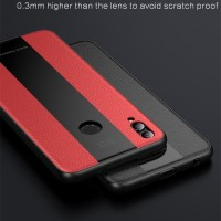 [LUXURY] Business Style Silicone Edge Leather Case Honor 8x