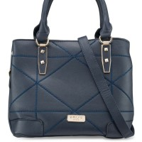 Faux Leather Quilted Convertible Top Handle Bag Unisa