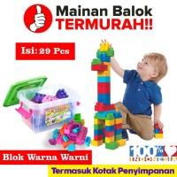 Ocean Toy Block Container isi 29 pcs Mainan Anak Multicolor - OCT9217