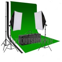 tiang stand background foto backdrop dgn lampu softbox