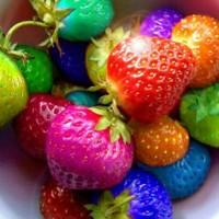 murah (isi 100bh) Benih strawberry Rainbow / Bibit Strawbeery Pelangi