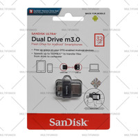 ORIGINAL SANDISK FLASHDISK 32GB OTG DUAL DRIVE m3.0 / 32 GB USB 3.0