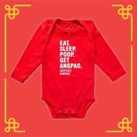 Eat Sleep Poop CNY Long Sleeve Baby Jumper | Baju Bayi - M
