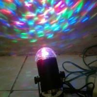 Lampu Stand Crystal Disco Sensor Music