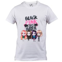 Kaos Baju K-Pop Korea Black Pink - Blackpink Lisa Rose Jisoo Jennie 07