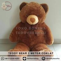 Jual Boneka Teddy Bear Jumbo 1 Meter Warna Coklat Khas Bandung