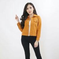 Jaket wanita Jumbo Jeans Denim tebal best seller