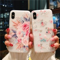 3D Flowery Soft Silicone Case Casing Silikon iPhone 6 6S 7 8 X Plus