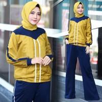 Micci Fashion Baju Dan Kulot Wanita Muslim Fendi - Kuning Navy