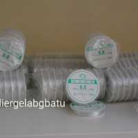 benang kenur elastis lucky 0,8mm tali kalung transparan bening gelang