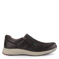 Sepatu Casual Slip On Kickers Leather 3103E Original - Coffee