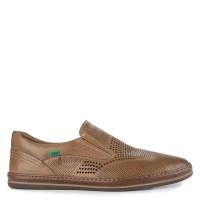 Sepatu Kickers Slip On Leather 3122T Original - Tan