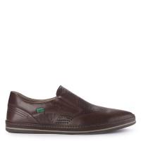 Sepatu Kickers Slip On Leather 3122E Original - Dark Brown