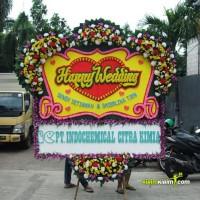 Bunga Papan Pernikahan Ukuran Besar (180 x 200) - GRATIS ONGKIR JKT