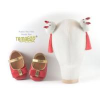 Sepatu Bayi Antislip With Headband Rabbit Red Small Tamagoo Babyshoes