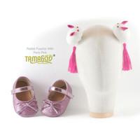 Sepatu Bayi Antislip With Headband Rabbit Fuschia BIG Tamagoo